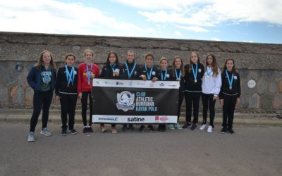 Primer podium de las chicas del club Athletic de Burriana