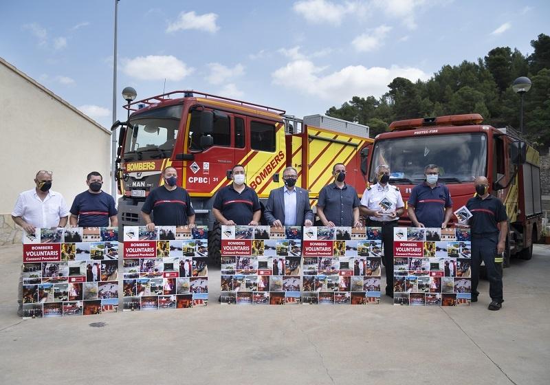 """Martí destaca el """"treball excepcional"""" dels bombers voluntaris dels cinc parcs per preservar l'entorn natural de Castelló"""
