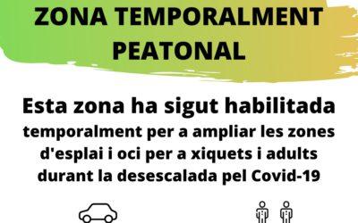 El Ayuntamiento de la Vall d'Uixó habilita zonas temporalmente peatonales
