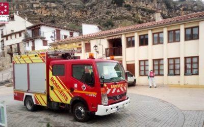Els bombers de la Diputació continuen desinfectant en pobles de la província
